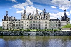 Chambord、卢瓦河和雪儿,法国, 2017年8月14日,大别墅Chambord T 免版税库存图片