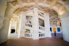 Chambord双重螺旋楼梯 免版税库存图片