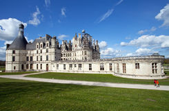Chambord. Castle of Chambord in Loire, France Stock Images