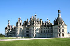 Chambord castle. View of Chambord castle, Loire, France Stock Photos