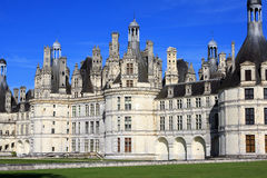 Chambord castle. View of Chambord castle on Loire valley, France Royalty Free Stock Image