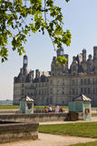Chambord Castle. A well known landmark on the Loire Valley (France). Here you can rent bicycles or boats Stock Images