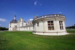 Chambord castle. Side view of Chambord, the biggest french medieval castle Stock Photography
