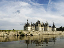 Chambord Castle. From the canal Royalty Free Stock Photo