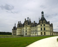 Chambord Castle. The famous Chambord Castle, the most important one in the Loire Valley Stock Photo