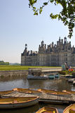 Chambord Castle activities. A well known landmark on the Loire Valley (France, Europe). In this picture, is a view on the point of renting boats, bicycles, etc stock photography