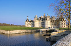 Chambord castle in afternoon light Royalty Free Stock Photo