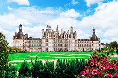 Chambord castle Chateau de Chambord in Loire valley, France. A UNESCO world heritage site in France. royalty free stock image