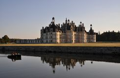 Chambord Castle at dawn Stock Photography