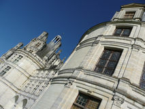 Chambord castle in France. Chambord: royal castel in France, near the Loire river Royalty Free Stock Photos