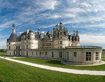 Chambord Castle on the Loire River. France. Stock Photos