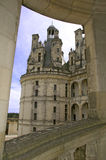 Chambord Castle Loire Valley detail view Stock Image