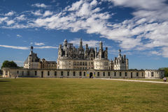 Chambord castle. At Loire valley, France Royalty Free Stock Image