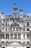 Chambord Castle Loire Valley France. Detail of the facade of the Chambord Castle in Loire Valley, France Royalty Free Stock Image