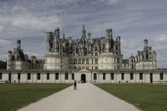Chambord Castle on Loire valley Royalty Free Stock Images
