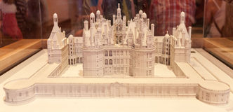Chambord Castle Miniature Royalty Free Stock Images