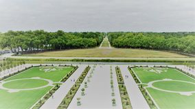 Chambord Chateau, Loire Region France Gardens stock images