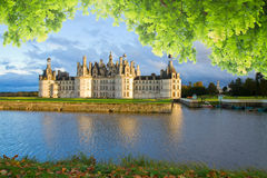 Chambord chateau at sunset, France. Chambord chateau at summer day, Pays-de-la-Loire, France stock images