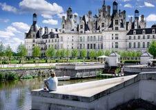 Chambord, Loir et Cher, Francia, il 14 agosto 2017, castello Chambord T fotografie stock