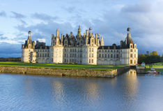 Chambord palace after rain at sunset, Loire Valley, France Stock Photography