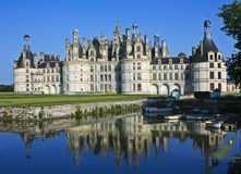 Chambord with reflections. Château Chambord with reflections in moat, Loire Valley, France Stock Photography