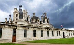 Chambord-Schloss an einem stürmischen Tag Lizenzfreie Stockfotos