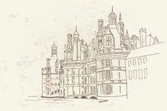 Chambord-Schloss, Frankreich lizenzfreie abbildung