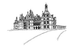 Chambord-Schloss, Frankreich Lizenzfreies Stockfoto