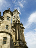 Chambord Towers. Detail of two towers in the Chambord Castle Royalty Free Stock Images