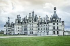 Chambordkasteel, de Loire-Vallei, Frankrijk - artistieke versie van mijn foto Stock Fotografie