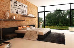 Chambre à coucher Photographie stock libre de droits