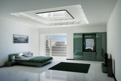 Chambre à coucher 3d intérieur Images stock