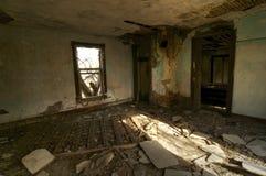 Chambre à coucher abandonnée Image libre de droits