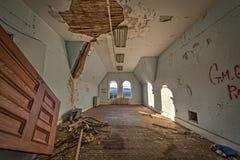 Chambre à coucher abandonnée en Hudson River State Hospital Photo libre de droits