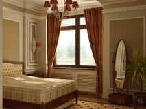 Chambre à coucher antique classique de style. Photo libre de droits