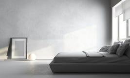 Chambre à coucher blanche Photographie stock