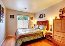 Chambre à coucher confortable chaude Photographie stock