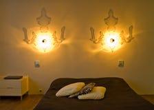 Chambre à coucher contemporaine   image stock