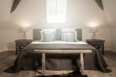 Chambre à coucher démodée Images stock