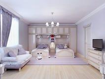 Chambre à coucher d'enfant pour deux illustration de vecteur