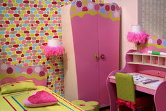 Chambre à coucher d'enfants Image stock