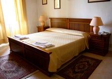 Chambre à coucher d'hôtel Photographie stock