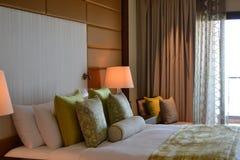 Chambre à coucher d'hôtel Photo libre de droits