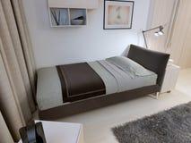 Chambre à coucher d'hôtel dans la conception moderne Photographie stock