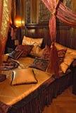 Chambre à coucher dans le château Photos stock