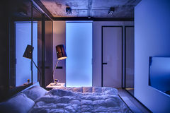 Chambre à coucher dans le style de grenier Image stock