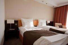 Chambre à coucher dans un hôtel photo libre de droits