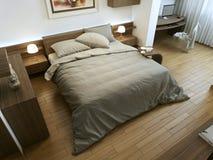 Chambre à coucher dans un style minimaliste photos stock