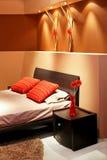 Chambre à coucher de Brown images stock