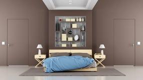 Chambre à coucher de contemporain de Brown illustration de vecteur